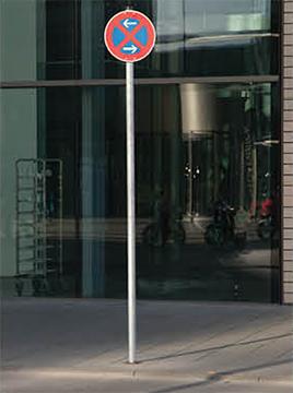 Befestigung Verkehrszeichen Kernbohrung Pflaster