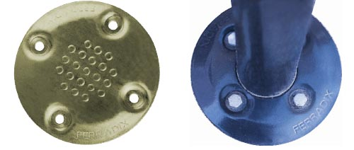 FERRADIX Ground anchor: Painted clamping and cover plates