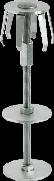 Interchangeable bollard with FERRADIX LOCK fix