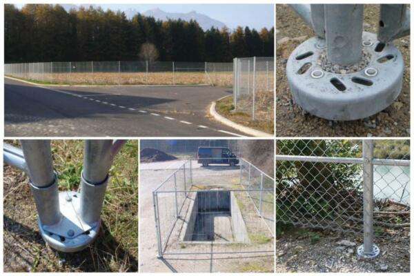 Fences with fence foundation-ground anchors